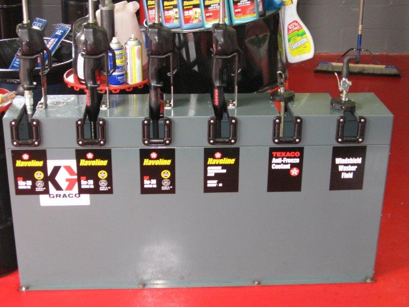 Penn Yan Xpress Lube - Oil pump set up