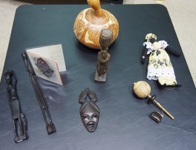 Some of the many African things sold at ISU Africa Night 2013 023.jpg