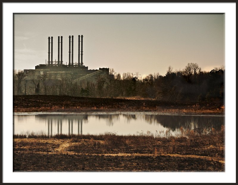 Steam Plant with Morning Haze