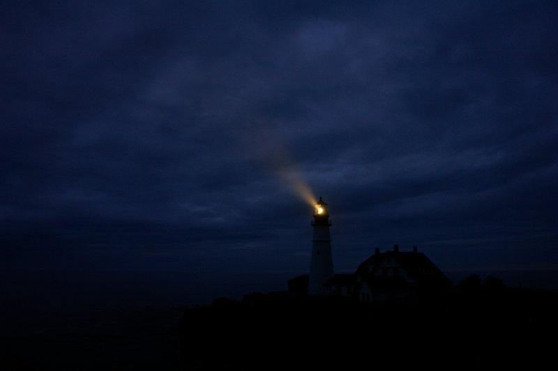 00173 BEACON of HOPE, hand held :( PORTLAND HEAD LIGHT by donald verger lightouse september 15
