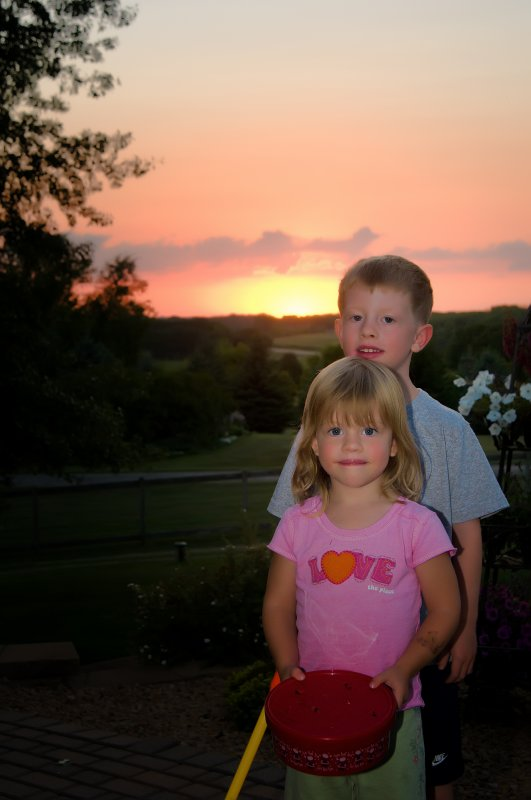 Sunset on my angels