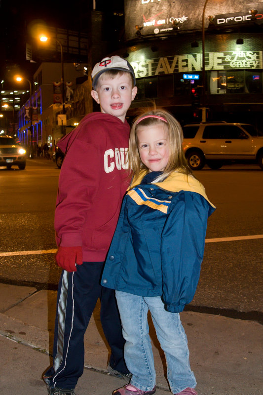 Kids near First Ave, Downtown Mpls.