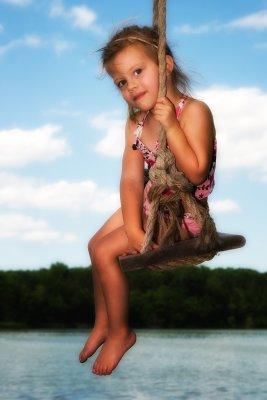 Cait on swing 4th July