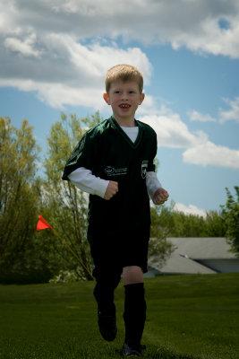 Ryan at soccer practice (2010)