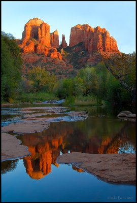 Cathedral rock at sunset (upper location)