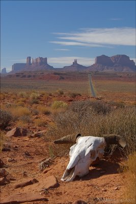 Monument valley up the road