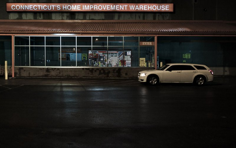 Storefront and Car