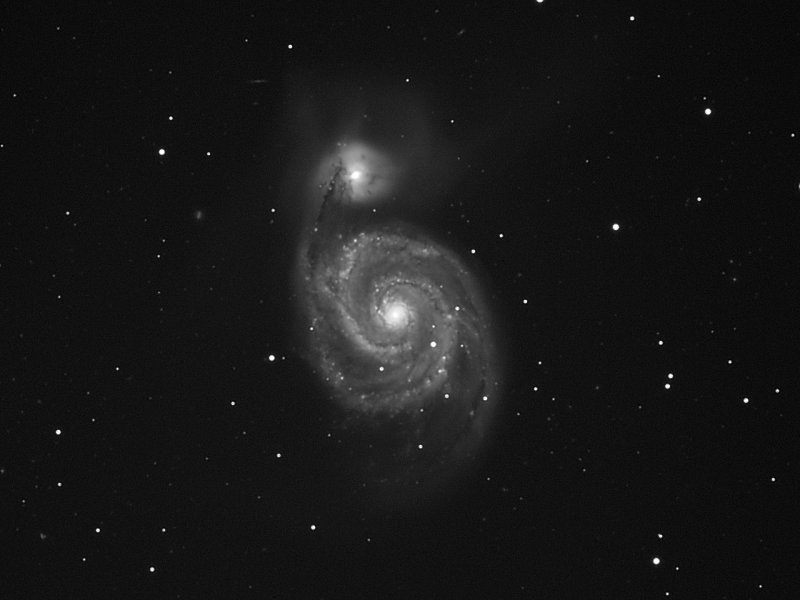 Galaxy M51 at 1 arc-second resolution   02-May-2010