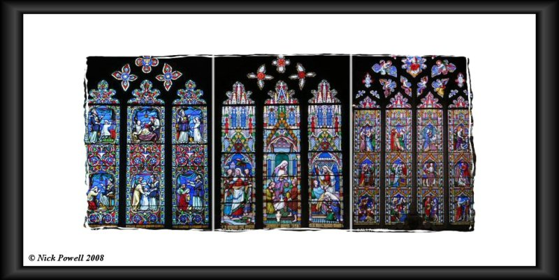Stained Glass Triptych