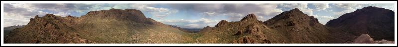 Gates Pass Tucson Mountains Panoramic