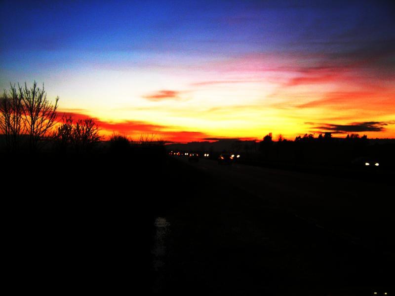 Sunset over Perth- Scotland