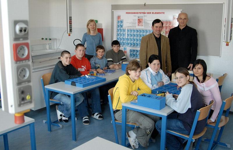 Der neue Physiksaal in der Lanzenkirchner Hauptschule