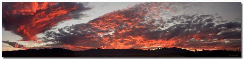 Dragoon Mountain Sunset Panorama