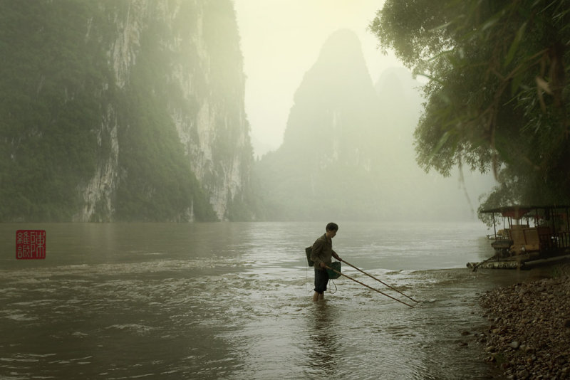 Fisherman in the Li Jiang River.