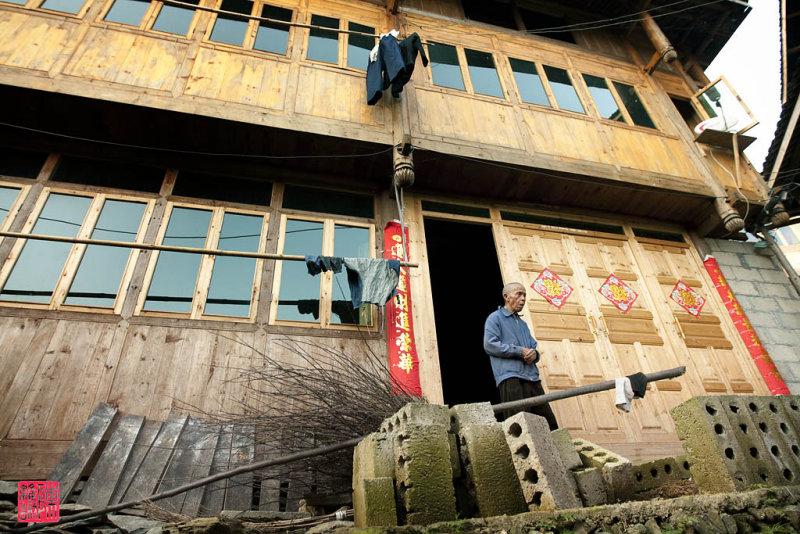 Villager in an old village in Ping An