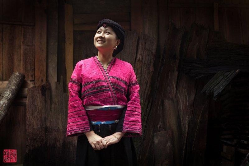 Yao ethnic minority beauty in Longji.