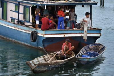 Sea gypsy family