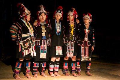 Akha hill tribe dance