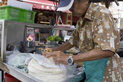 Popiah seller on the streets (7009)