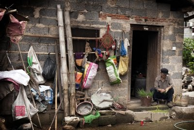 Villager at home in Ping An, China