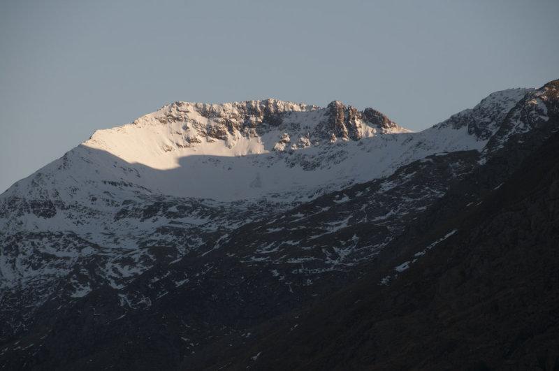 Llanberis Crib Goch under snow