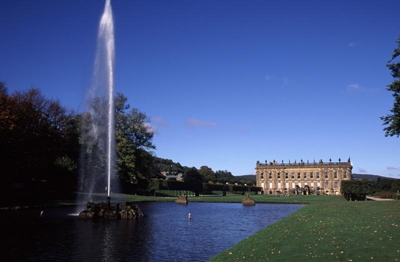 Chatsworth House and its famous fountain