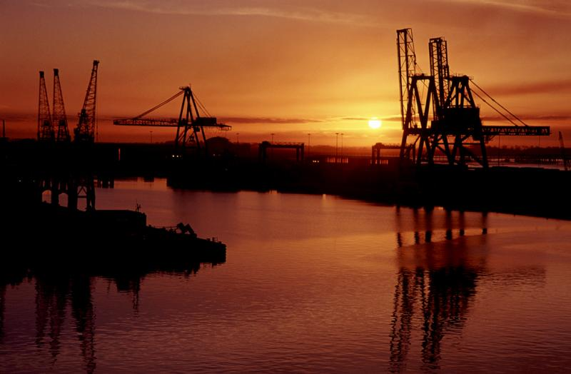 Hull Docks at dawn