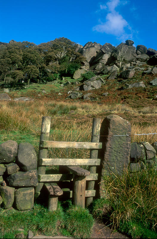 A stile at the Roaches, Staffordshire