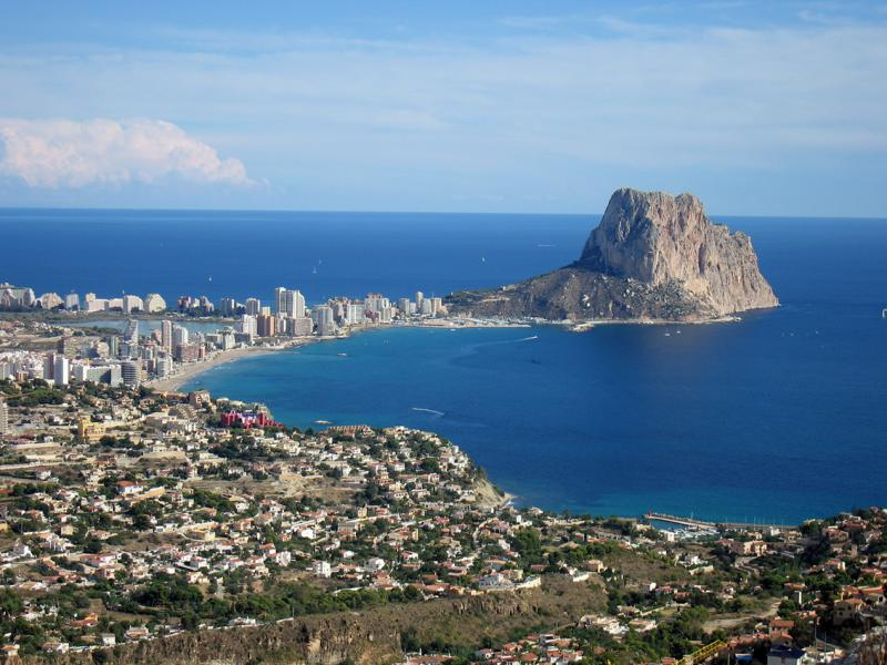 Calpe and the Penon from Toix.