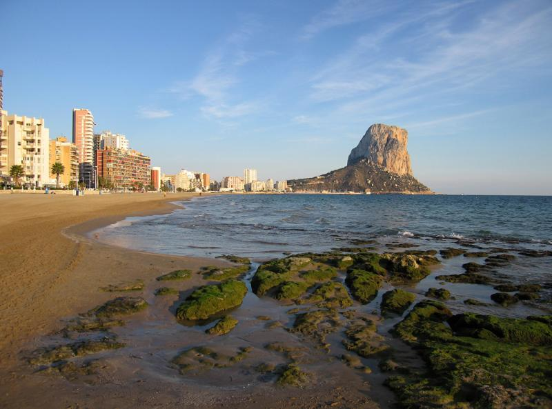 Penon, Calpe and rocky foreshore