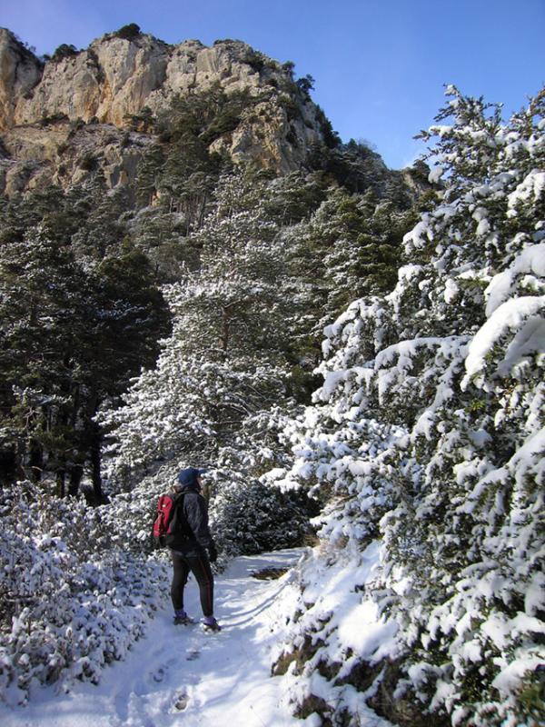 Unusual conditions above Berga Pyrenees