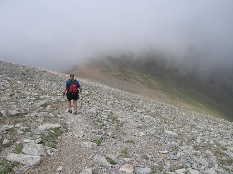 Tosa, Pyrennes,  heading into the clouds
