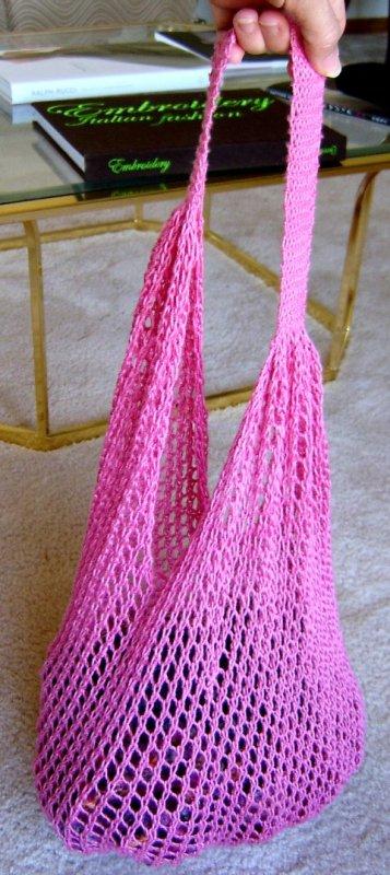 Pink String Bag
