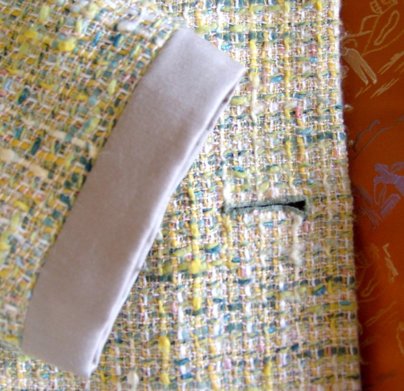 Sleeve Cuff and Front with Lining