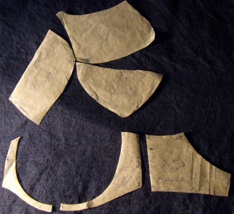 Pattern copied from RTW Freya bra.