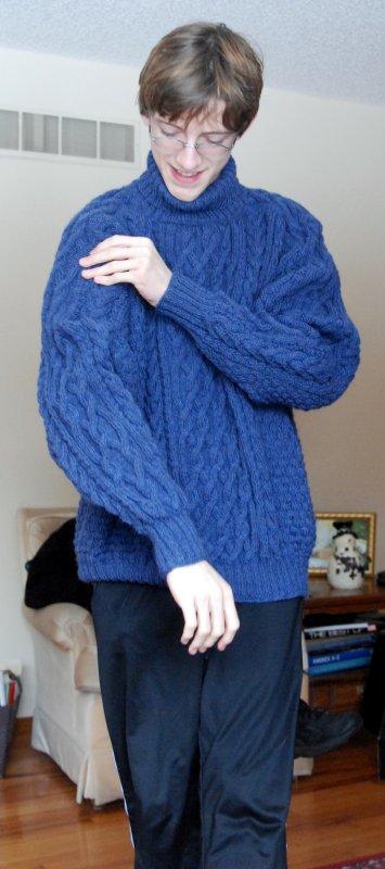 Alexs Drops Cabled Pullover