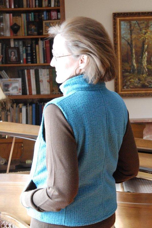 Fleece Vest Side-Back