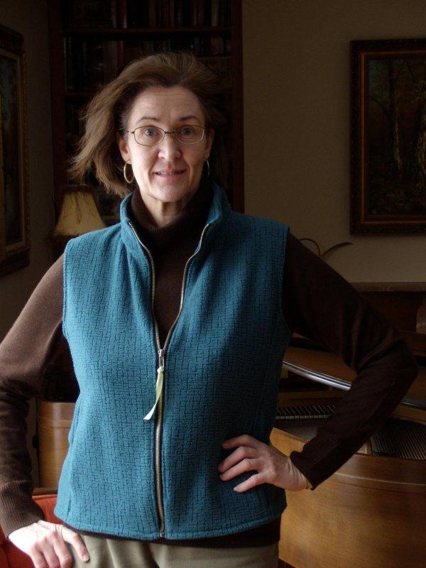 Partially Zipped Fleece Vest