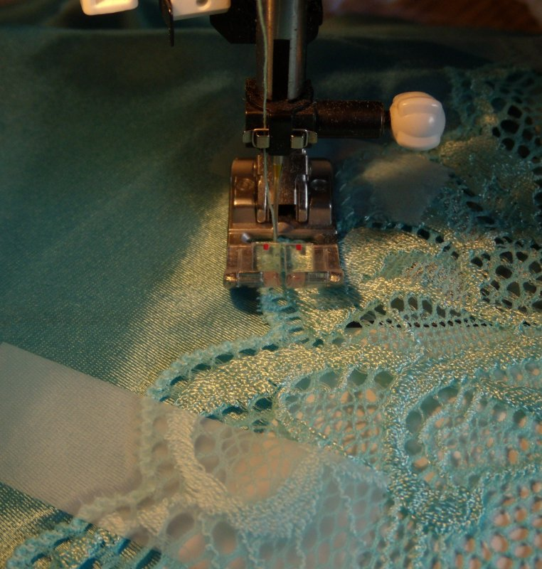 Attaching Lace to Slip