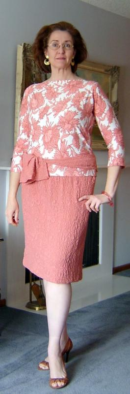 Coral Floral Tee &Laceknit Skirt II