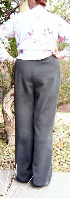 Fleece Pants Back