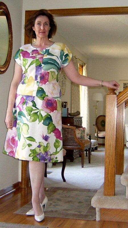 2-piece Floral Dress Front