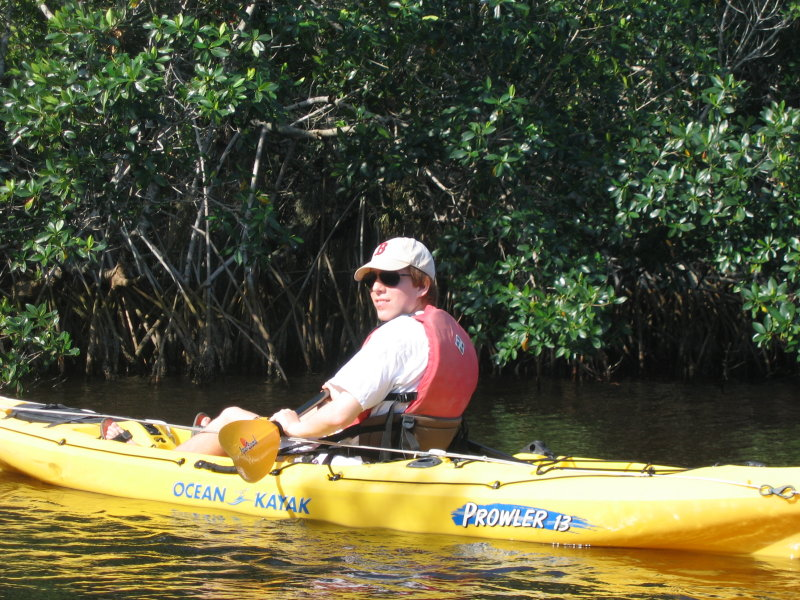 Bobby ready to enter the mangrove tunnels