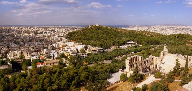 Filopappos Hill and the urban sprawl of Athens