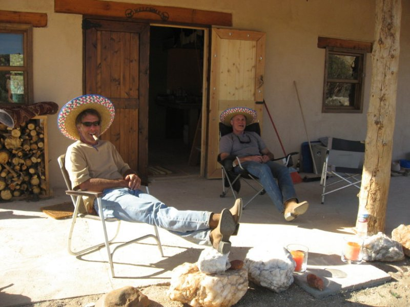 Mark & Jim enjoy a cigar after their ride