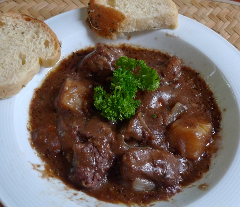 Beef Bourgiugnon and Fresh Baked Bread