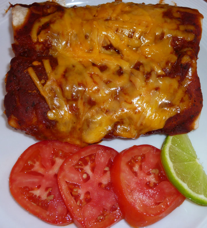 Smothered Beef Enchiladas