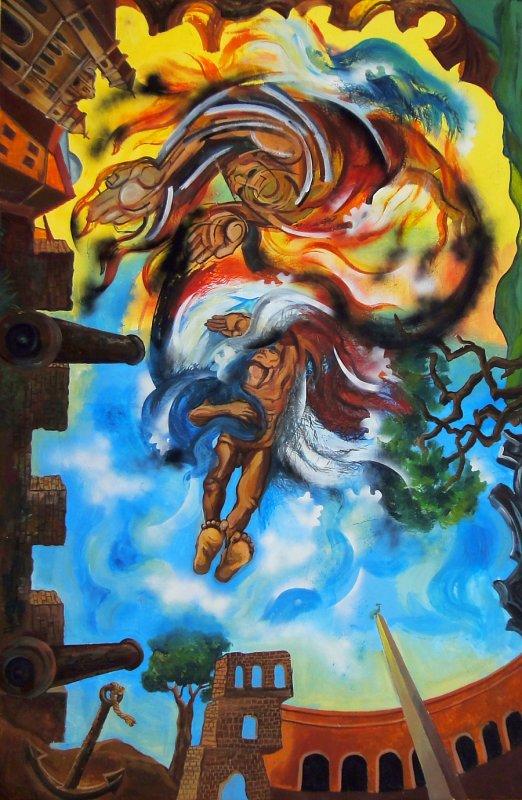 Ceiling Mural, National Institute of Culture