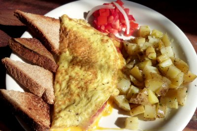 Chedder Cheese & Bacon Omelette