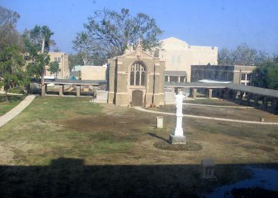 Sacred Heart Courtyard and Mausoleum on January 2, 2006